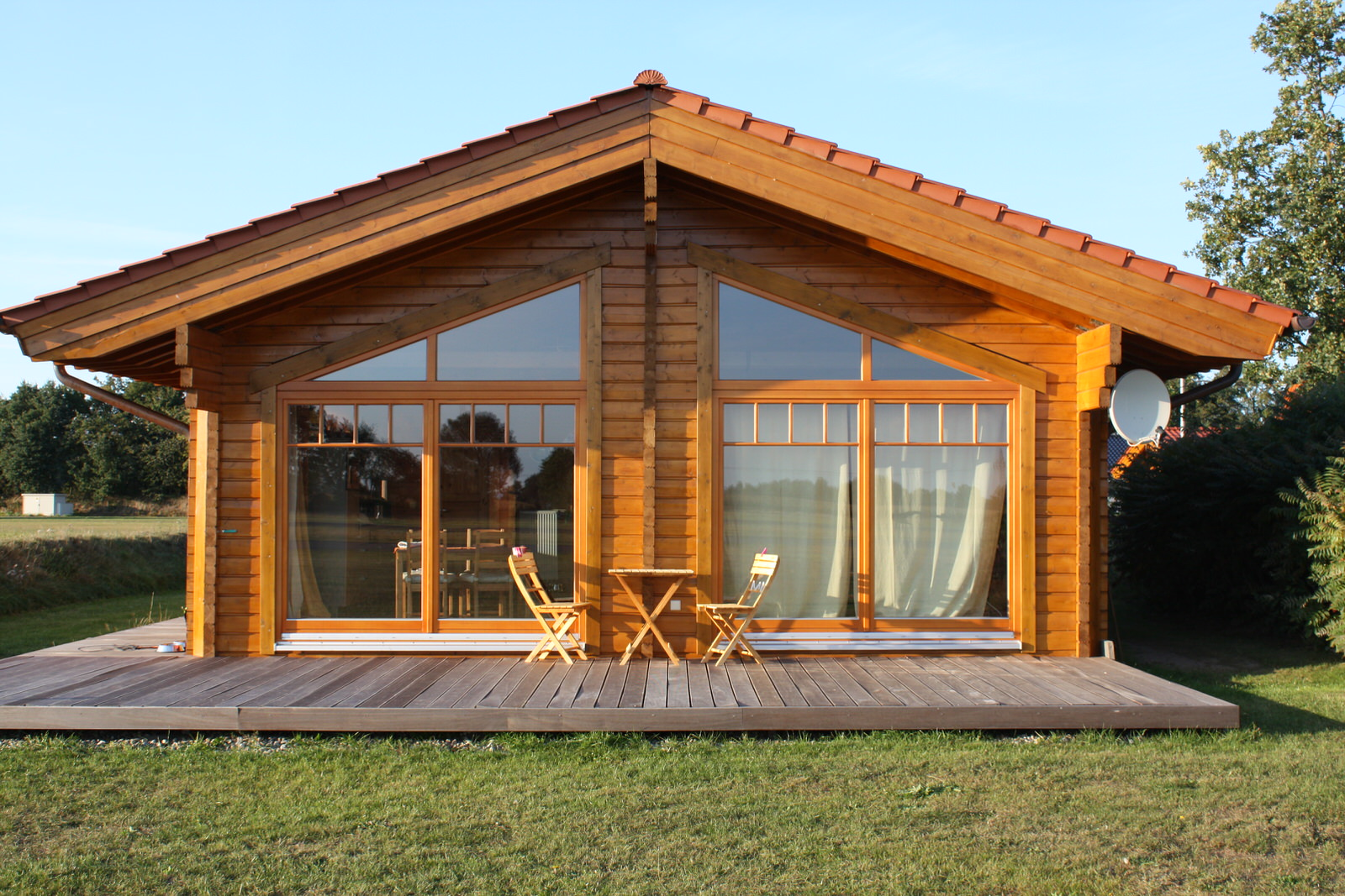 Beliebt 72,54 qm | Jagdhaus Willi | Nordic Haus Blockhaus | Holzhaus SD77